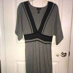 Spense Grey & Black Sweater Dress